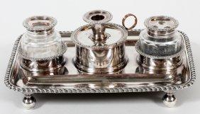 M. Boulton & Co. English Sheffield Plate Inkstand