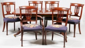 Berkey & Gay Federal Style Mahogany Dining Set