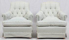 Upholstered Occasional Chairs Pair