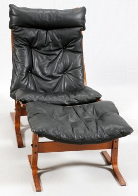 Ingmar Relling For Westnofa Lounge Chair W/ Ottoman