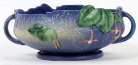 Roseville Fuchsia Blue Pottery Vase 1941