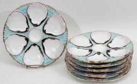 Austrian Porcelain Oyster Plates C. 1890
