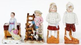 Continental Porcelain Figures Of Children