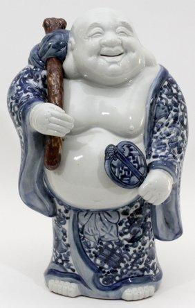 Chinese Blue & White Porcelain Buddha
