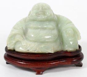 Chinese Carved Jade Seated Buddha