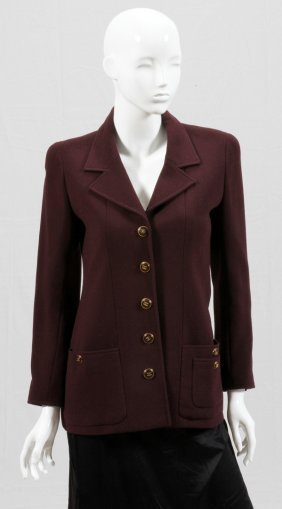 Chanel Boutique Brown Wool Jacket