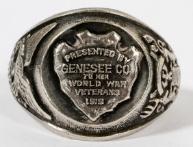 'genesee County World War Veterans' Sterling Ring