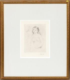 Pierre Auguste Renoir Drypoint