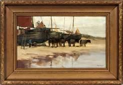 CHARLES PAUL GRUPPE OIL ON CANVAS