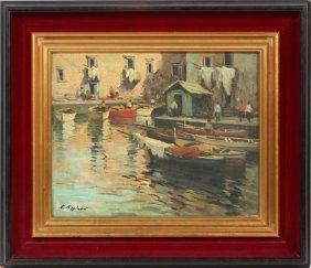 Eduardo Pizzirani Oil On Canvas