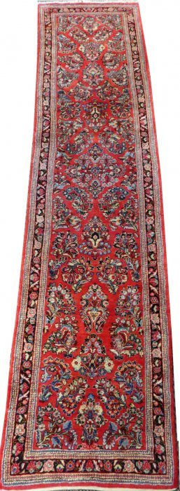 Sarouk Persian Runner Semi Antique