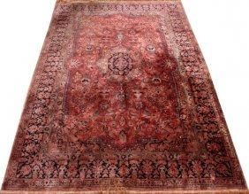 Kashan Design Silk And Wool Rug
