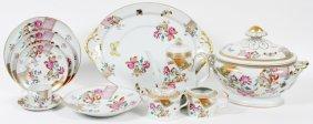 Mottahedeh Lowestoft Rose Porcelain Dinner Service