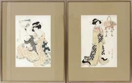 JAPANESE UKIYOE COLOR WOODBLOCK PRINTS C 1900
