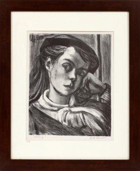 Will Barnet Black & White Lithograph C. 1936