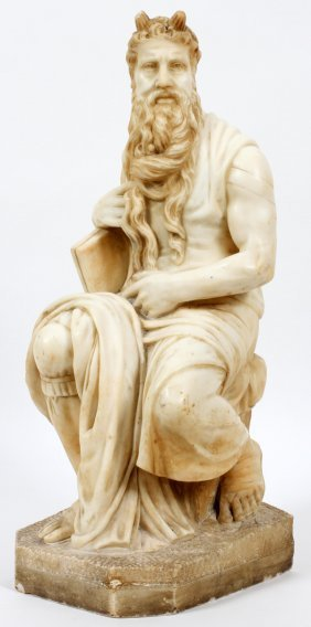 After Michelangelo Marble Sculpture 19th.c.