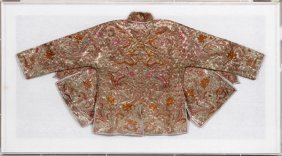 Chinese Silver & Gold Thread Cape/jacket 20th C.