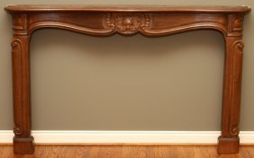 Carved Wood Fireplace Mantle