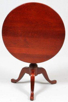 Queen Ann Style Mahogany Tilt Top Table