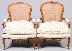 Louis Xv Style Walnut Armchairs