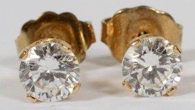 Diamond Stud Earrings Pair