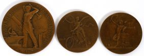 Vernon Dupuis & Other Bronze Art Medals 3 Pieces