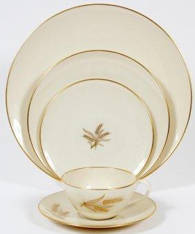 Lenox 'wheat' Porcelain Dinner Set 61 Pieces