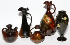 American Pottery Vases Early 20th C. Five