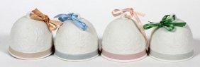 Lladro Porcelain Bells, Four