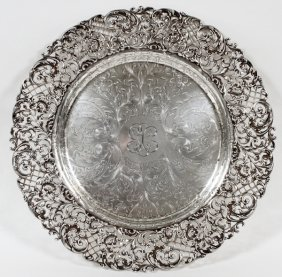 Roger Williams Silver Co. Sterling Platter