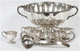 ANTONIO PINEDA MEXICAN &AMERICAN STERLING PUNCH SET