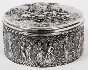 German .800 Silver Box By Gebruder Glaser Hanau