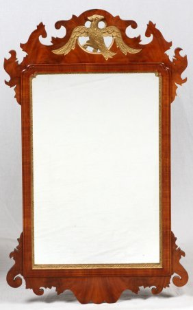 Chippendale Style Mahogany Mirror 18th C.