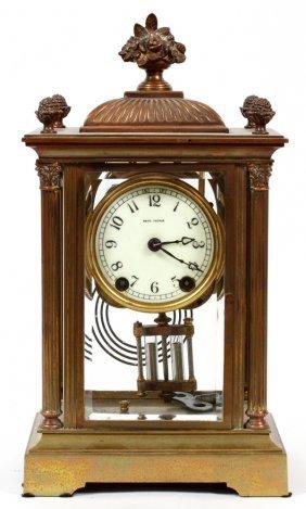 Seth Thomas Brass Mantel Clock Early 20th C.