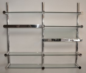 Janet Schwietzer For Pace Aluminum & Glass Shelves