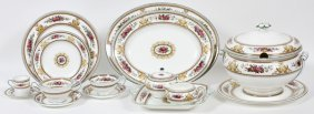 Wedgwood 'columbia' Porcelain Dinner Set 103 Pieces