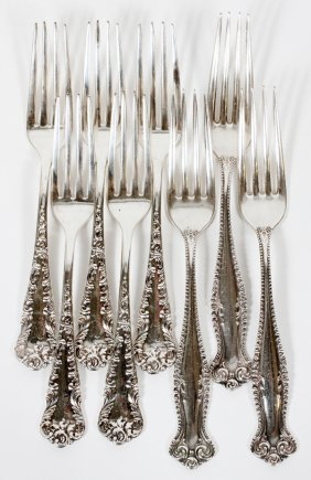 Towle 'canterbury' & Knowles Sterling Forks C. 1900