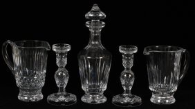 Waterford Crystal Pitchers Decanter & Candlesticks