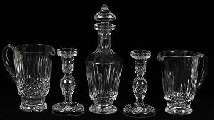 WATERFORD CRYSTAL PITCHERS DECANTER  CANDLESTICKS