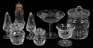 WATERFORD CRYSTAL BISCUIT JAR MUFFINEER & OTHERS