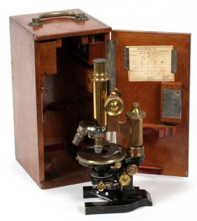 Ernst Leitz Microscope Wetzlar C. 1900
