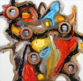 Gela Zautashvili Mixed Media On Canvas 1999