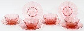 Venetian Glass Dessert Bowls & Under Plates 10 Pcs