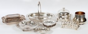 Silver Plate Serving Dishes 19 Pieces