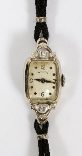 Hamilton Gold & Diamond Lady's Wristwatch C. 1940