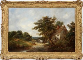 Robert Burrows Oil On Canvas 1874