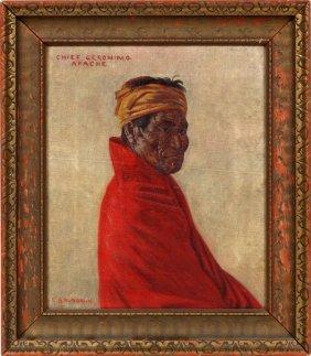 Elbridge Ayer Burbank Oil On Canvas