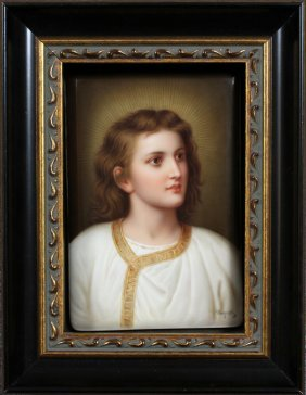 Signed Wagner Porcelain Plaque C 1900 #107