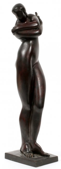 After Archipenko Bronze Nude