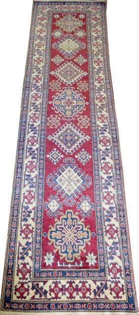 Afghan Oriental All Wool Hand Woven Runner